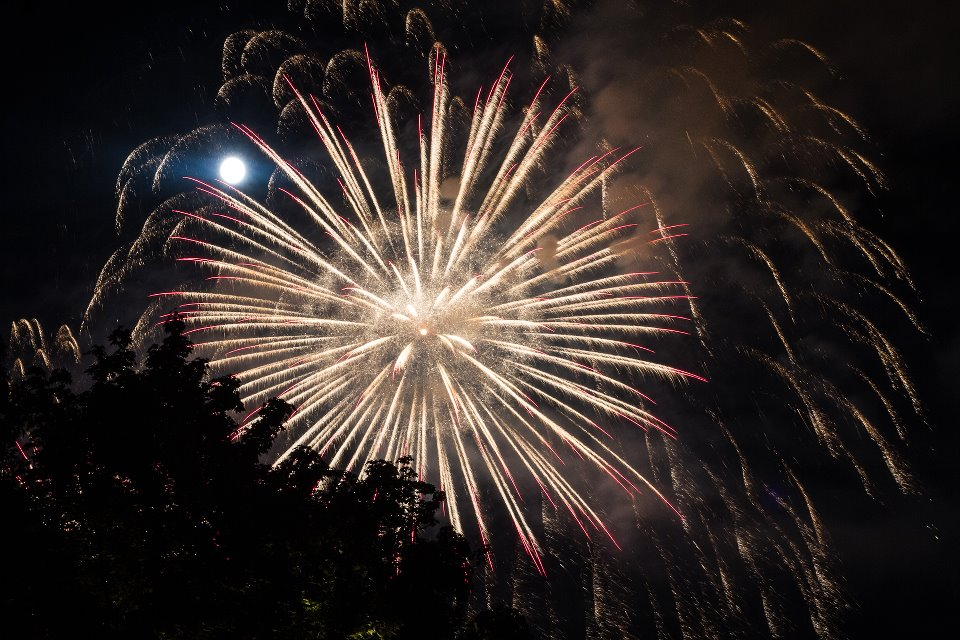 Swiss National Day Fireworks - Photo courtesy of Simon Hoggett