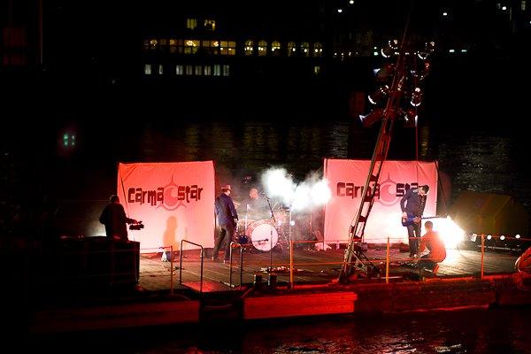 Raft concerts on the Rhine - Photo courtesy of Simon Hoggett